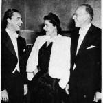 1944 Rudolf Firkusny, Mrs. Szell, George Szell in Montreal